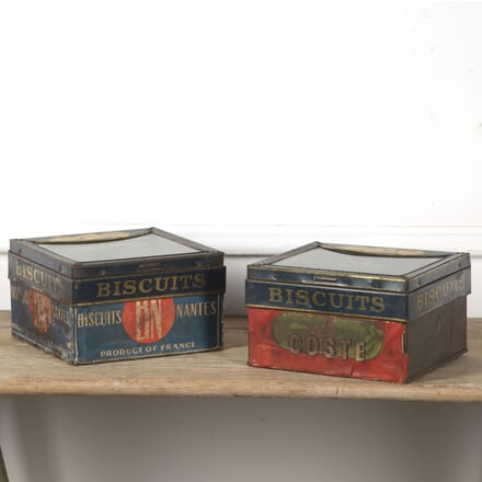 French Pair of Biscuit Tins DA1516609