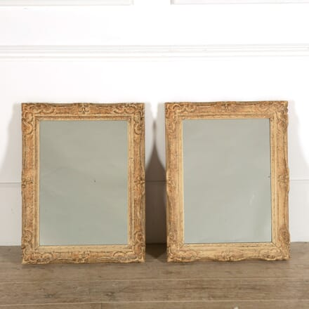 Pair of French Carved Frame Mirrors MI159065