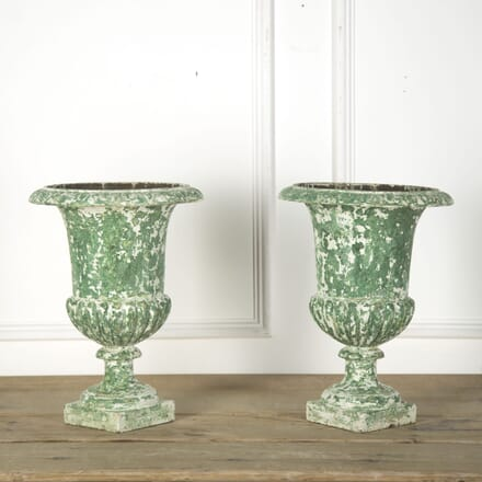 Pair of French Cast Iron Urns GA7510202