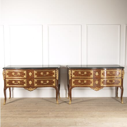 Pair of French Commodes with Marble Tops CC4813853