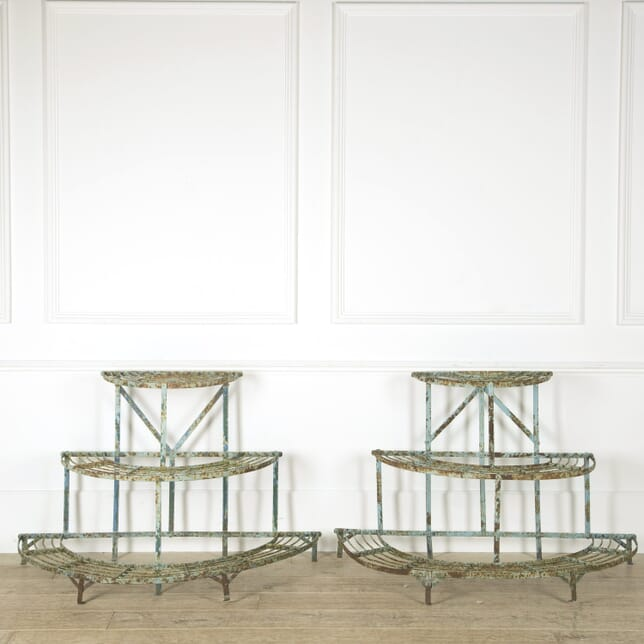 Pair of French Demi Lune Conservatory Stands GA459243