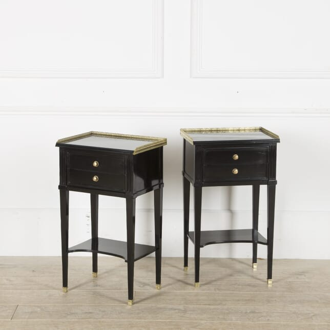 Pair of French Ebonised Lamp Tables CO529891