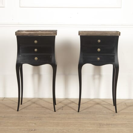Pair of French Ebonised Nightstands BD4516232