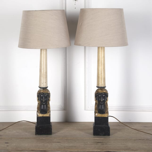 Pair of French Empire Style Table lamps LT3610277