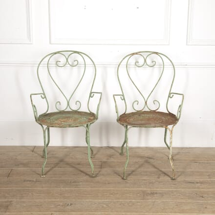 Pair of French Garden Chairs GA1515220