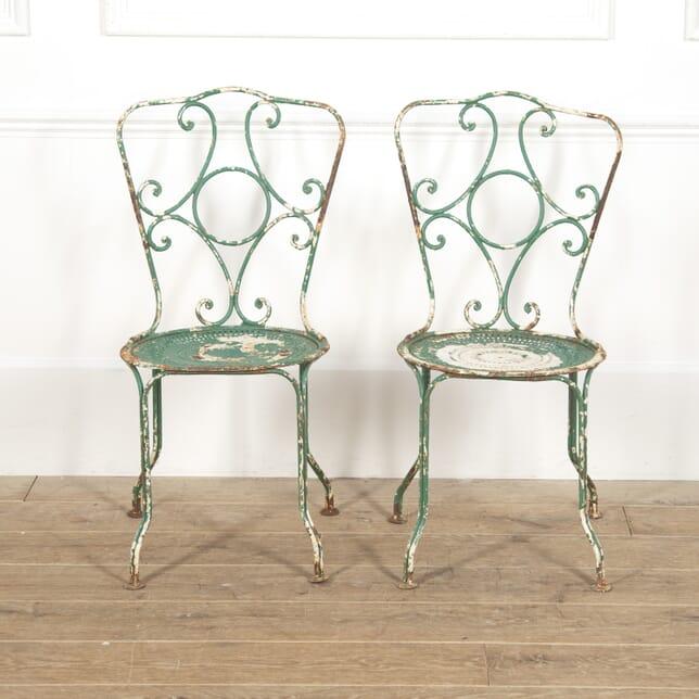Pair of French Iron Garden Chairs GA1516538