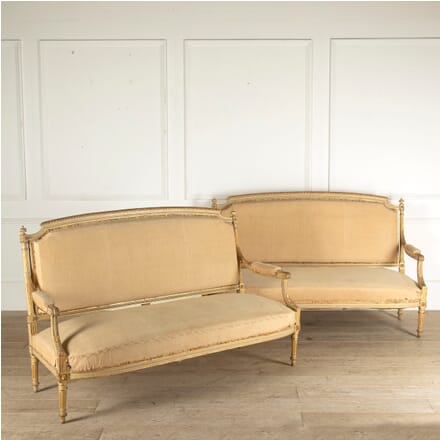 Pair of French Gilt and Painted Sofas SB4511015
