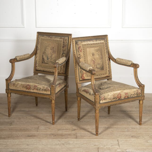 Pair of French Gilt Armchairs CH3516015