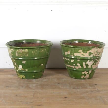 Pair of French Green Glazed Planters DA2013978