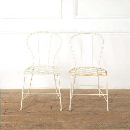 Pair of French Iron Garden Chairs GA1511583