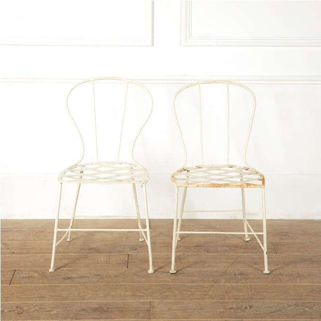 Pair of French Iron Garden Chairs GA1511583