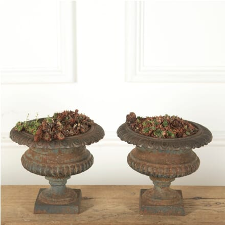 Pair of French Iron Urns GA3510939