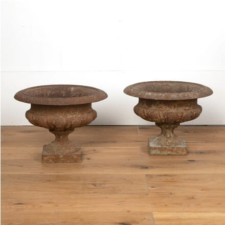 Pair of French Iron Urns GA3510940
