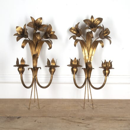Pair of French Lily Wall Lights LL1516593