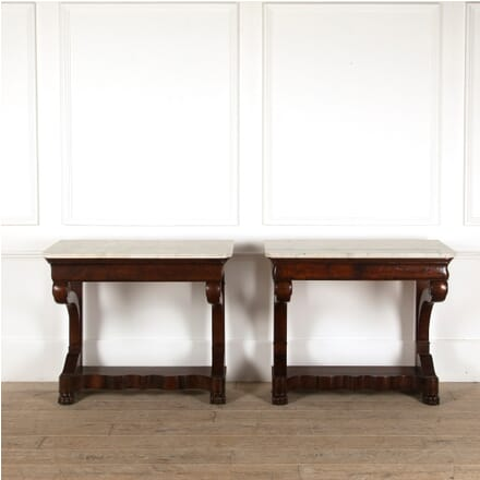 Pair of French Mahogany Console Tables CO4511234