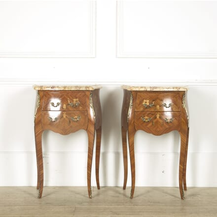 Pair of French Marquetery and Ormolu Mounted Nightstands BD529796
