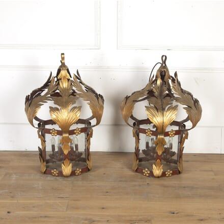 Pair of French Metal Lanterns LC7914971