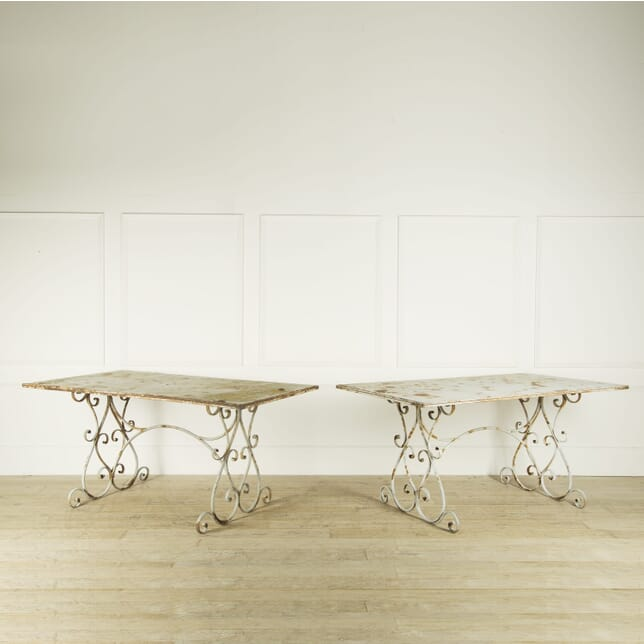 Exceptionally Large Pair of French Metal Tables GA209220