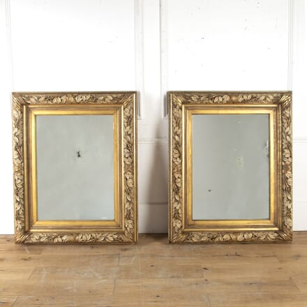 Pair of French Gilt Gesso Mirrors MI7914961