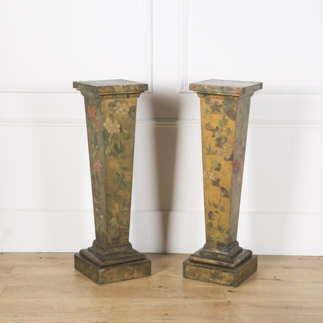 Pair of French Painted Pedestals OF7310140