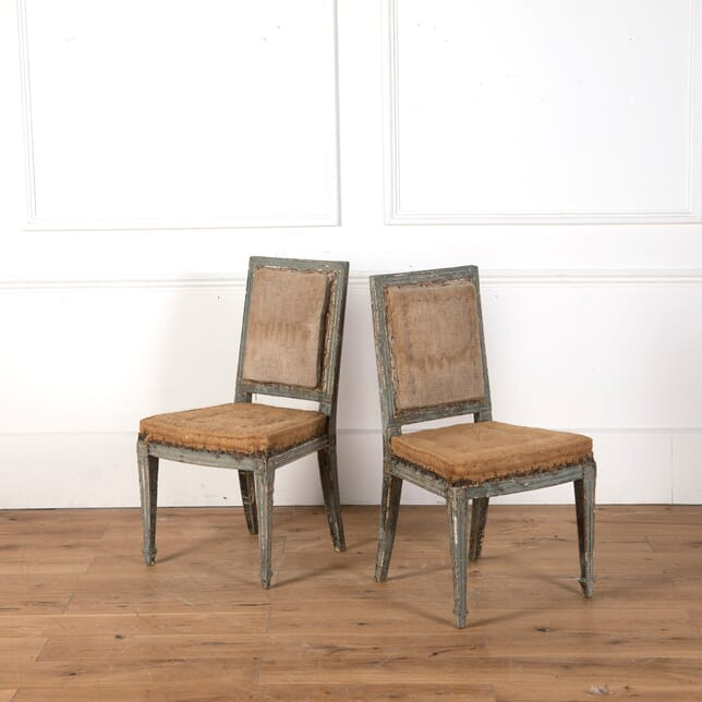 Pair of French Painted Side Chairs CH7311125
