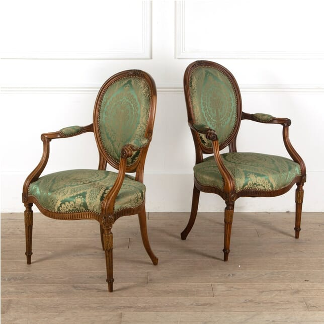 Pair of French Salon Chairs CH3011318