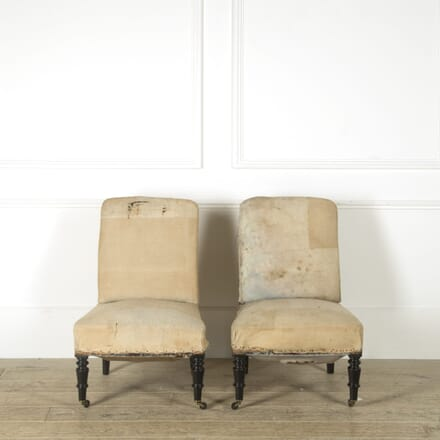 Pair of French Slipper Chairs CH459247