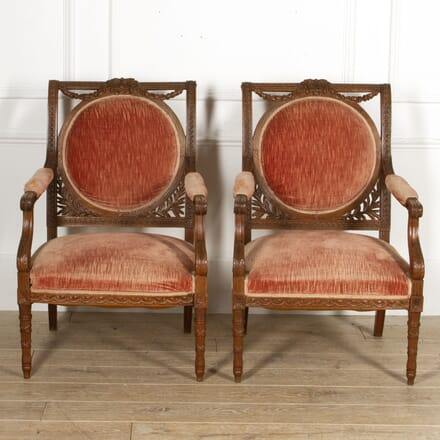 Pair of French Walnut Armchairs CH5217534