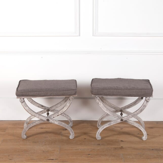 Pair of French X Frame Stools ST3610660