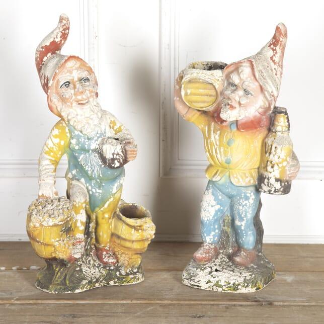 Pair of Large Garden Gnomes GA4315576