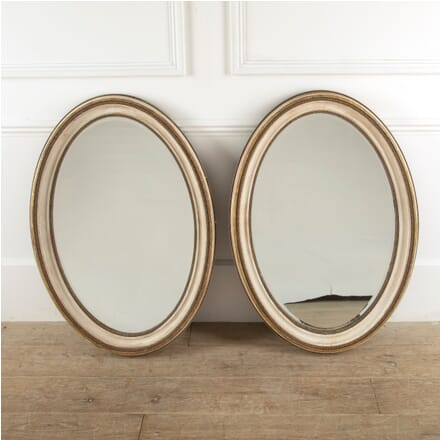 Pair of George III Style Oval Wall Mirrors MI8811370