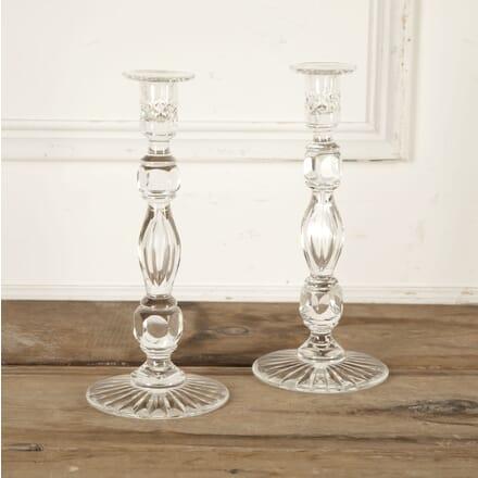 Pair of Georgian Lead Crystal Candlesticks DA5815468