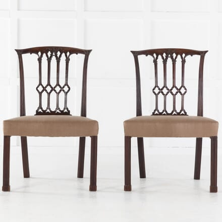 Pair of Georgian Mahogany Side Chairs CH0613699