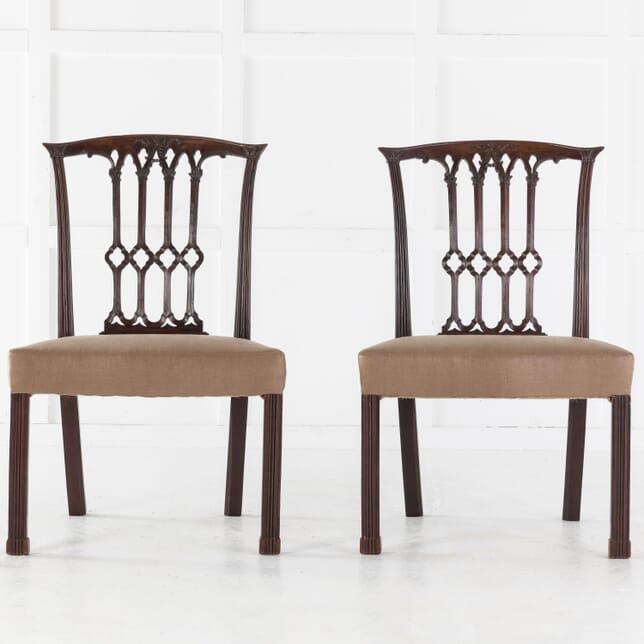 Pair of Georgian Mahogany Side Chairs CH0613699