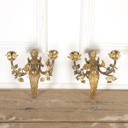 Pair of Gilt Metal Nymph Wall Lights LW8013775