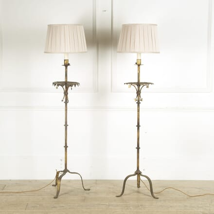 Pair of Gilt Metal Standard Lamps LF419725