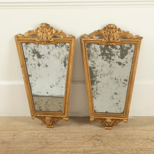 Pair of 19th Century Gilt Mirrors MI2011486