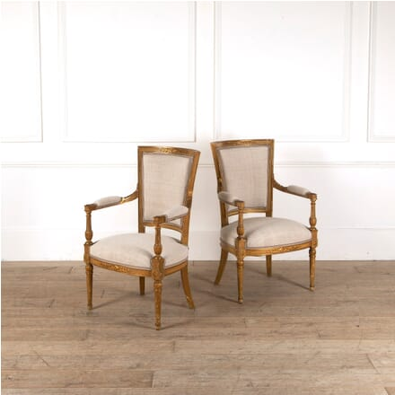 Pair of Giltwood Directoire Chairs CH4511241