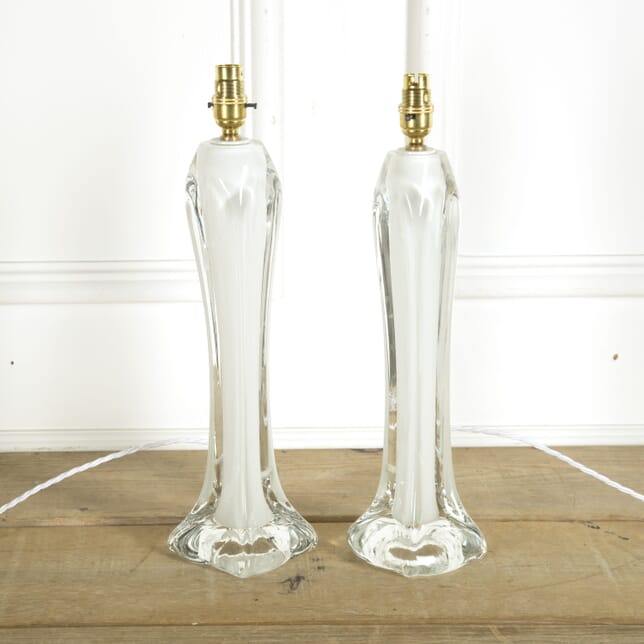 Pair of Glass Lamps by Orrefors LT609768