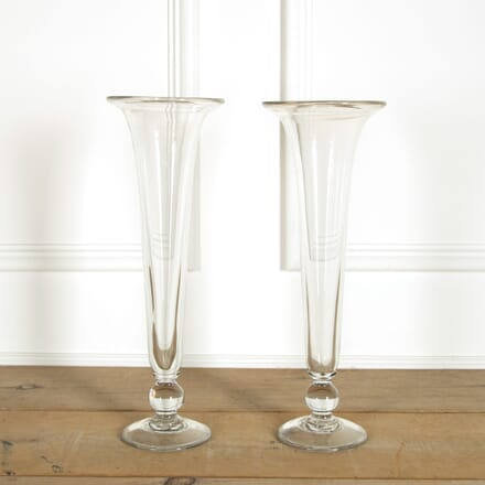Pair of Glass Trumpet Vases DA159078