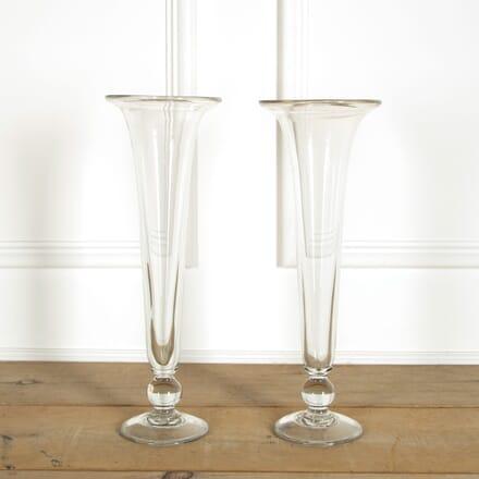 Pair of Glass Trumpet Vases DA159078