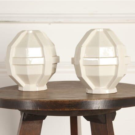 Pair of Glazed Art Deco Vases DA7613972