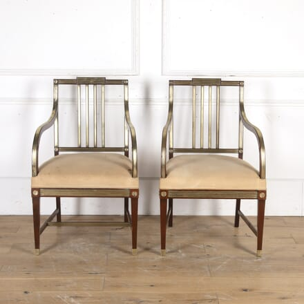 Pair of Brass-Mounted Jacobean Armchairs CH8915768