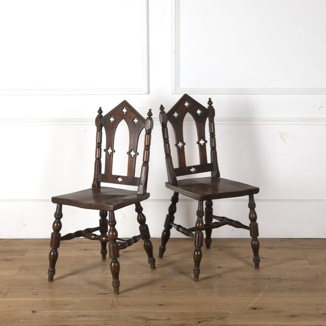 Pair of Gothic Side Chairs CH107505