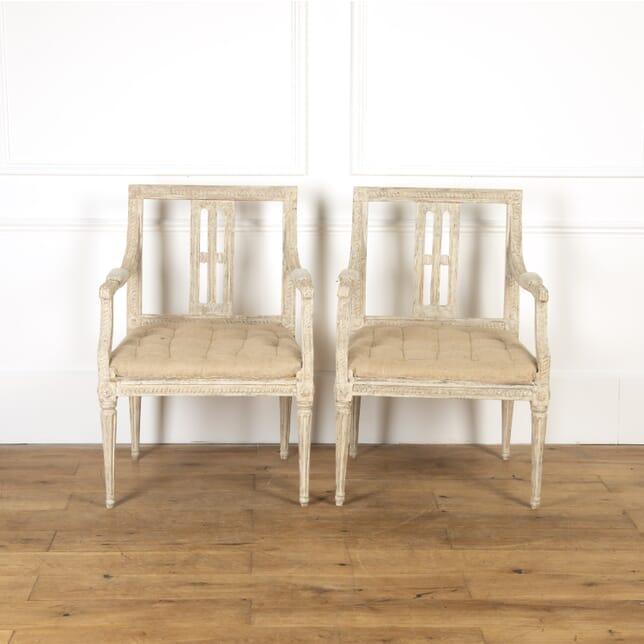 Pair of Swedish Gustavian Armchairs CH9016801