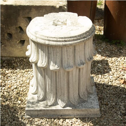 Pair of Hand-Carved Stone Plinths GA0310703