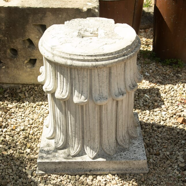 Pair of Hand Carved Stone Plinths GA4210703