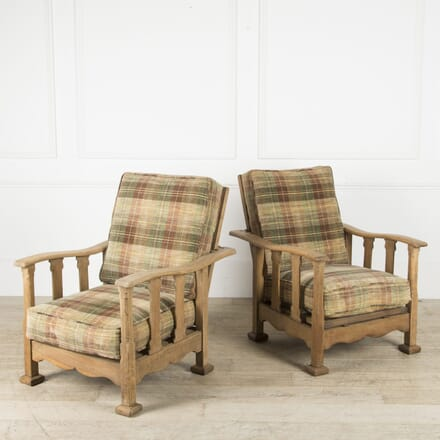 Pair of Heals Recliner Armchairs CH059945