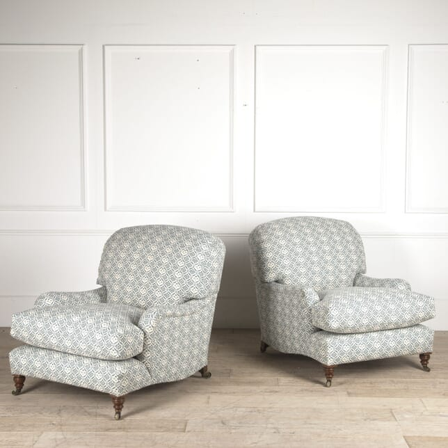 Pair of Howard & Sons Ivor Armchairs CH0110298