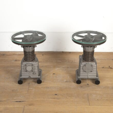 Pair of Industrial Side Tables CT8516245
